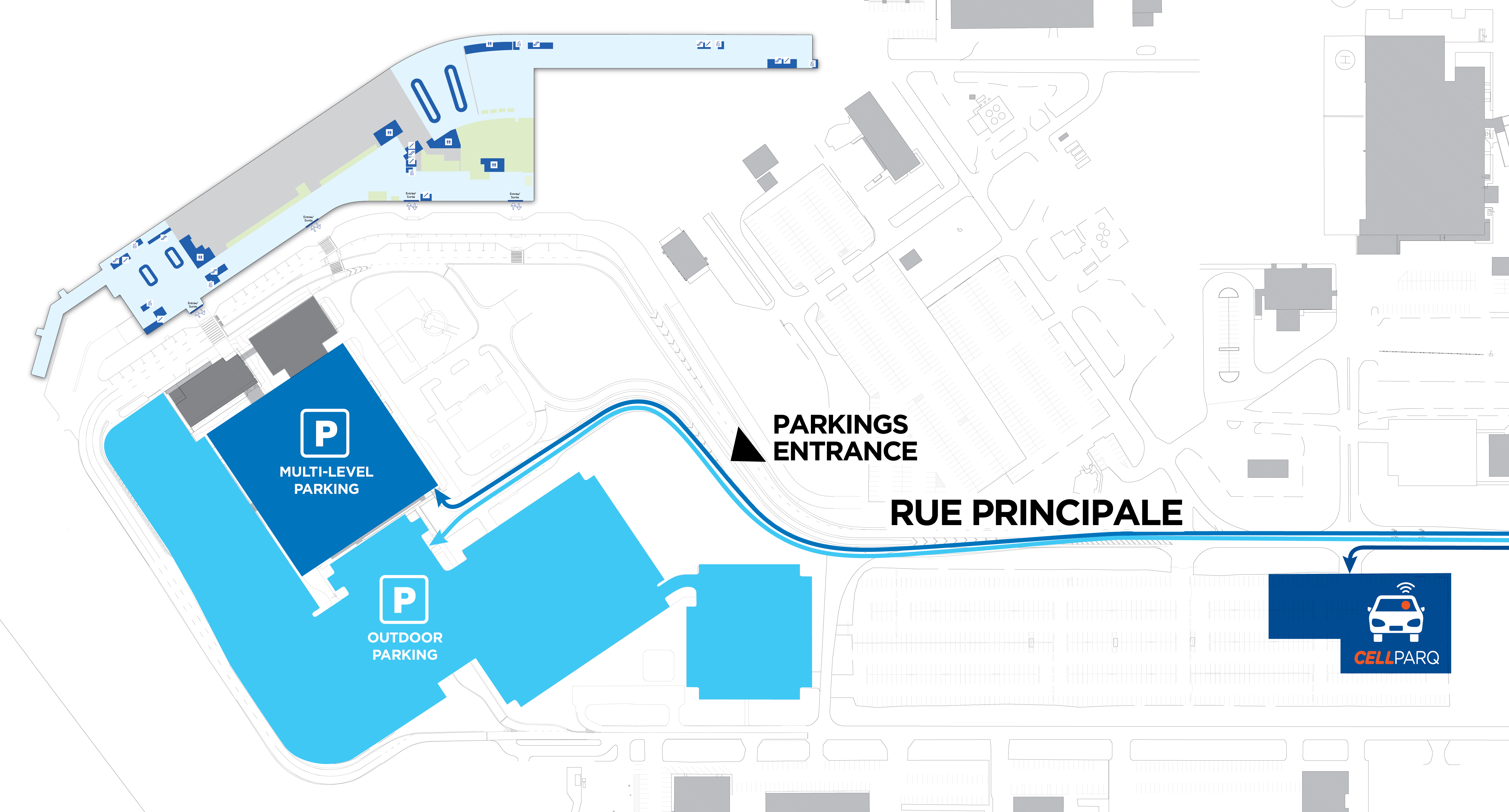 Parking lots map