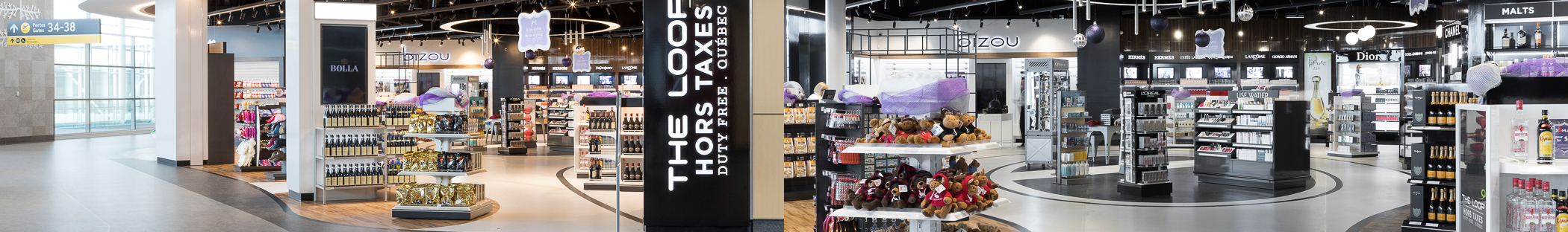 Produits en vente à la boutique The Loop Hors Taxes de l'Aéroport international Jean-Lesage de Québec (YQB)