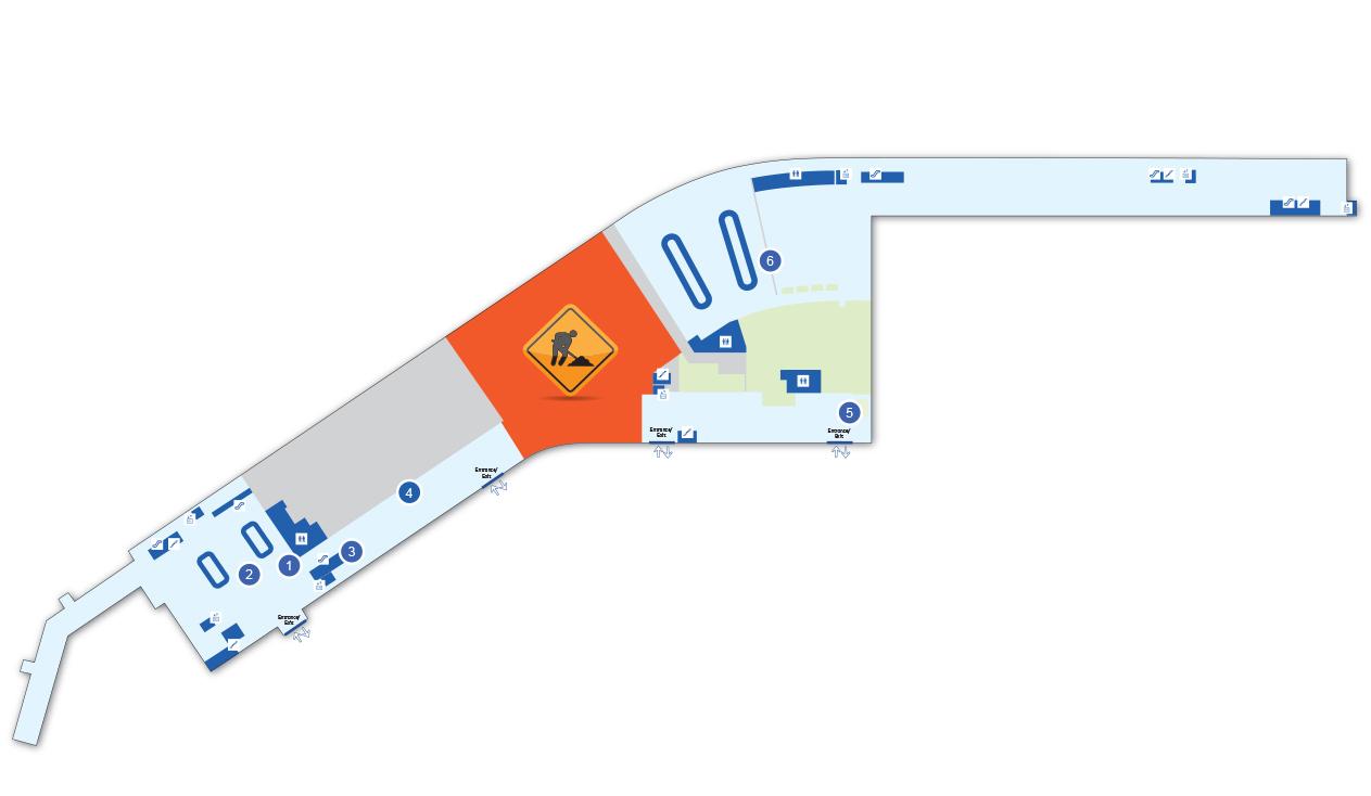 Terminal Map Aroport international JeanLesage de Qubec YQB